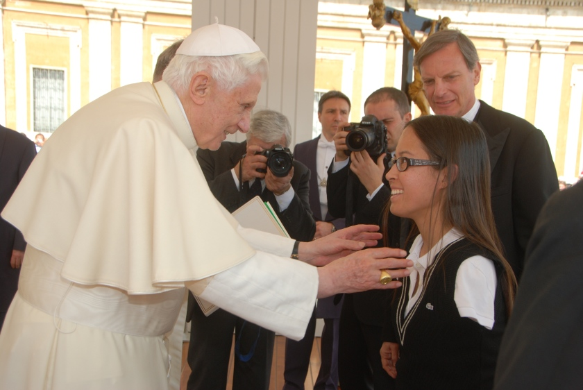 With (then) Pope Benedict XVI