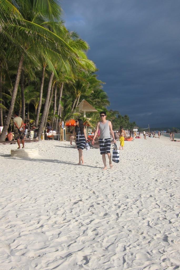 Famous white sand