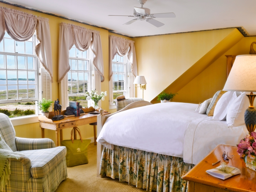 Guest room at The Wauwinet in Nantucket