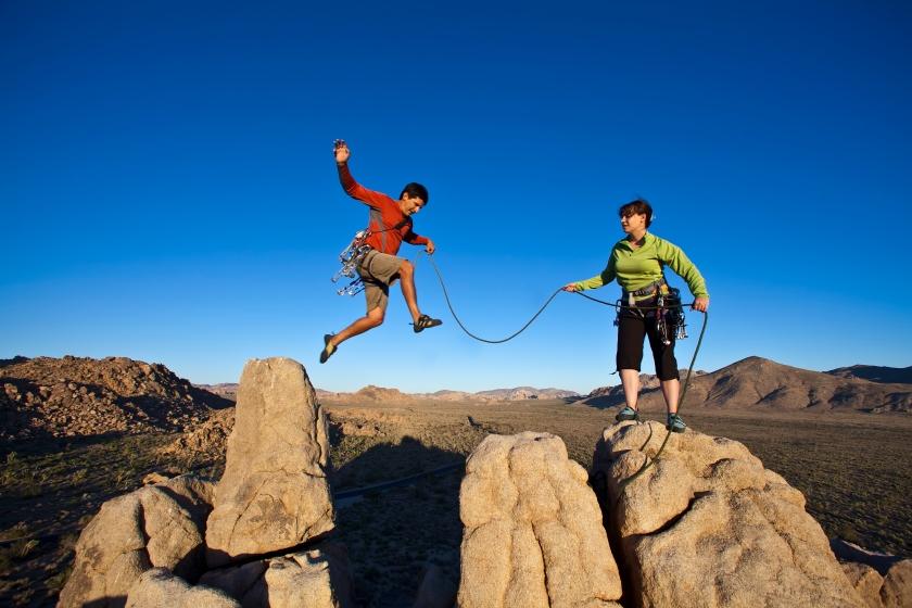 couple climb