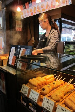 Food is expensive in Japan but convenience stores and street stalls offer great, affordable fare.