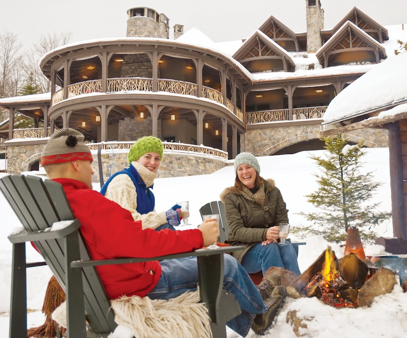 Share the day with friends. Photo courtesy of Lake Placid Lodge