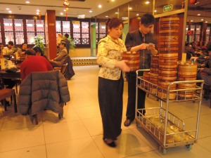 Waiting time at the Nanxiang Steamed Bun restaurant can take hours but things move faster for dine-in customers.