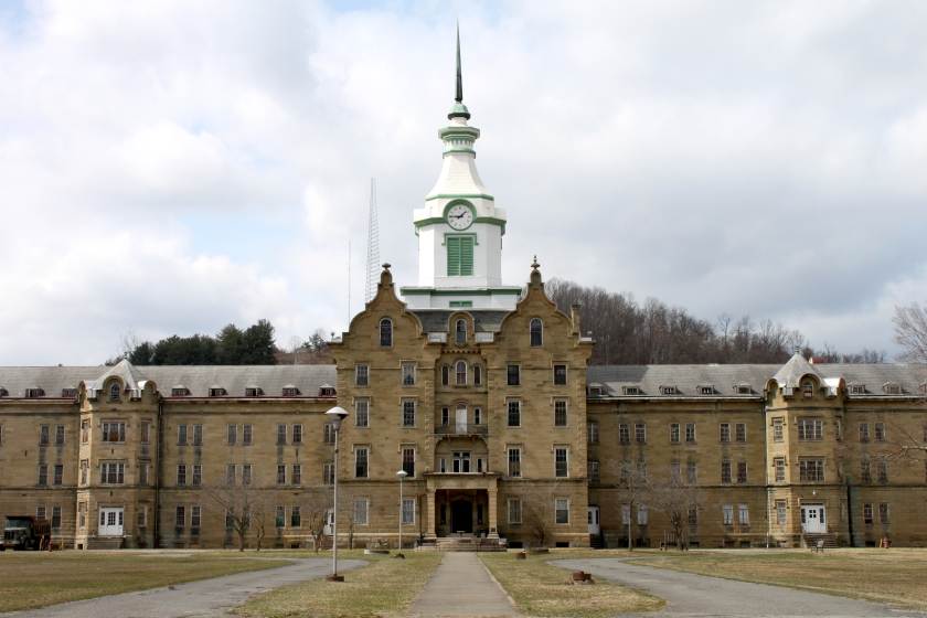The Trans-Allegheny Lunatic Asylum used to house over a thousand people with mental illness.